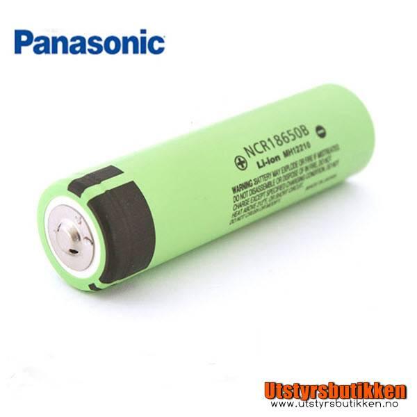 Panasonic Li-Ion batteri - NCR18650B 3.6V - 3400mAh
