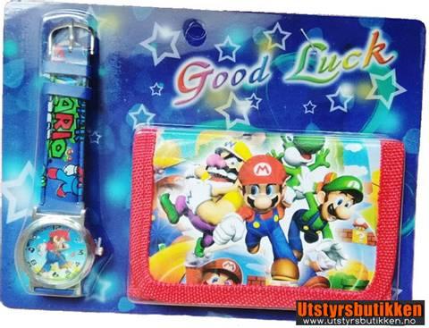 Bilde av Super Mario Bros gavesett - Klokke og lommebok