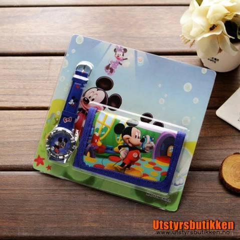 Bilde av Mikke Mus gavesett - Klokke og lommebok