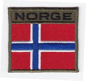 Bilde av NORGE patch od grønn