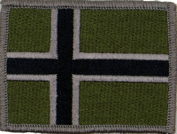 Norsk Flagg 6 x 4,5 cm Subdued
