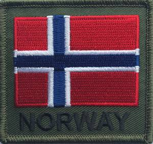 Bilde av NORWAY patch - firkantet