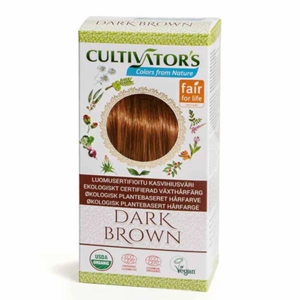 Organic Hair Color, Dark Brown