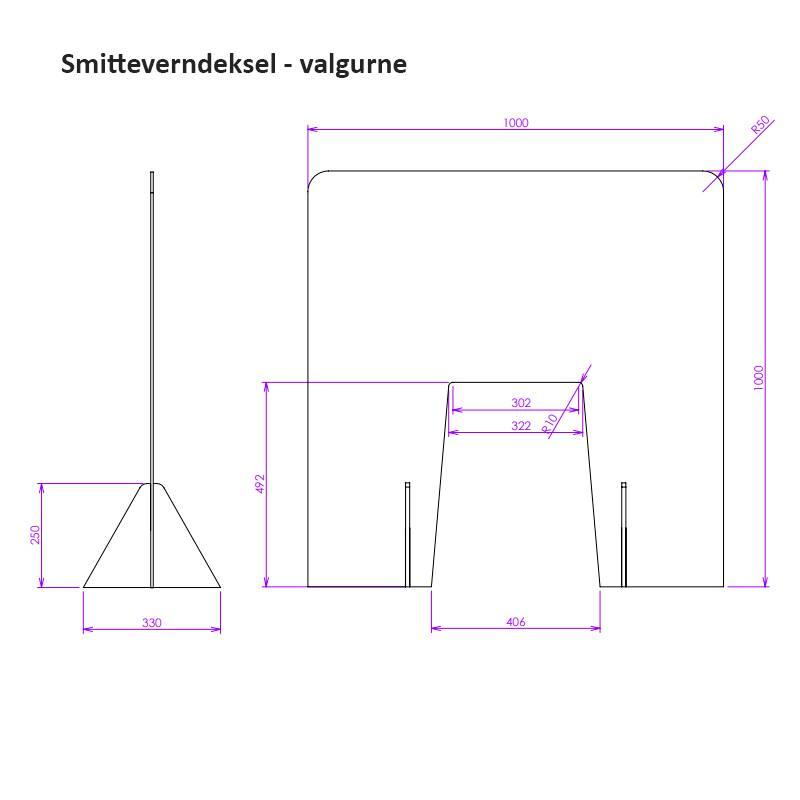 Bilde av Smitteverndeksel valgurne
