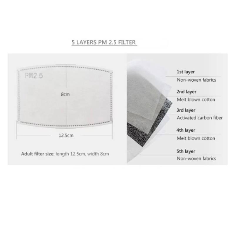 Bilde av Karbonfilter til munnbind - pakke 5 stk