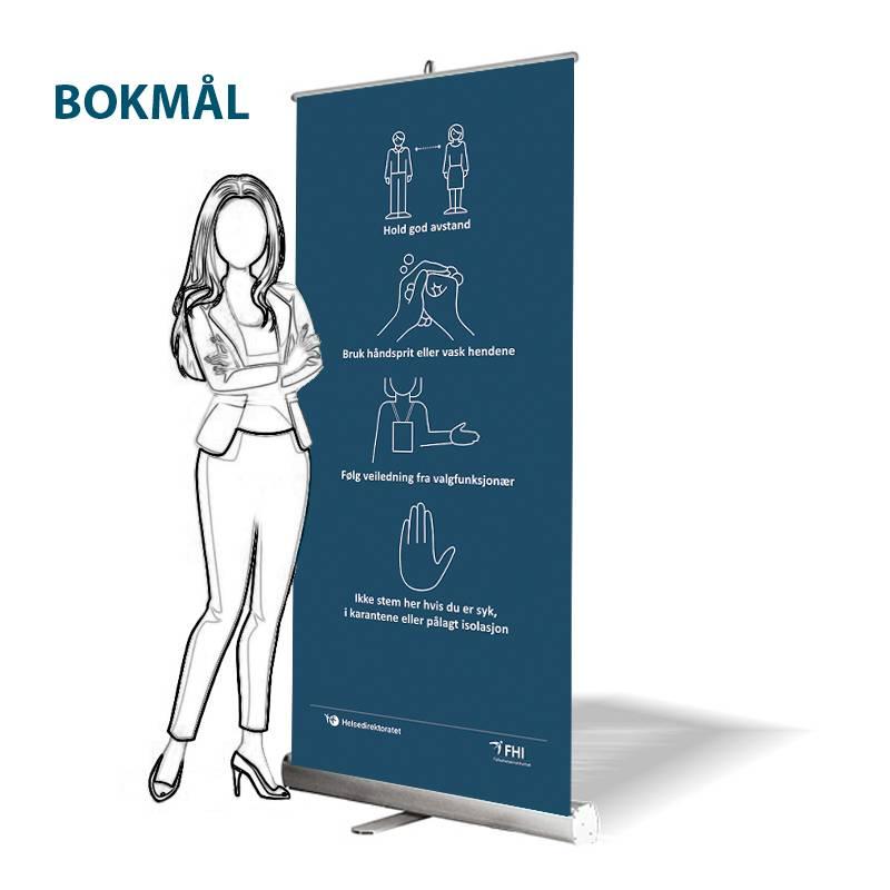 Bilde av Roll-up: Smittevern bokmål - FHI