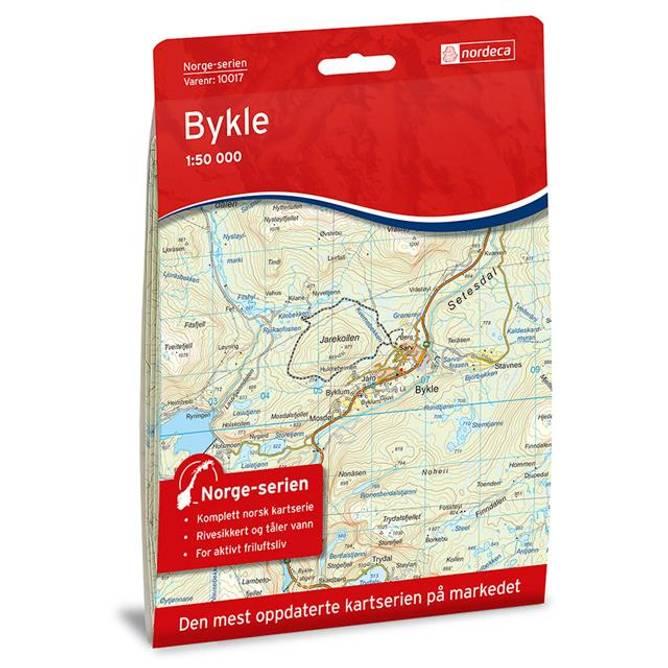 Bilde av Norgeskart Bykle 10017