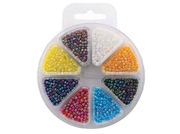 Bilde av Perlesett Glassperler regnbue 3mm – 8ass