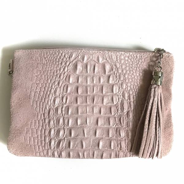 Bilde av Croco clutch pudder rosa