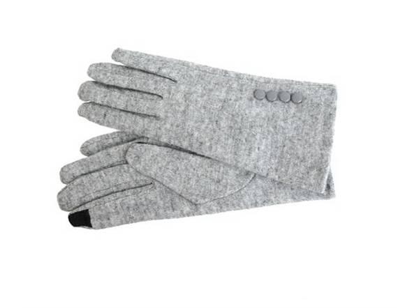 Bilde av vanter ull lys grå