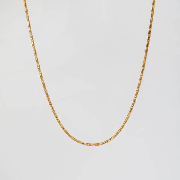 Bilde av halskjede slangemønster gullfarget