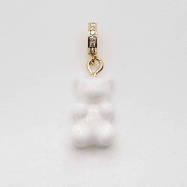 Bilde av Bamse anheng med ring Hvit