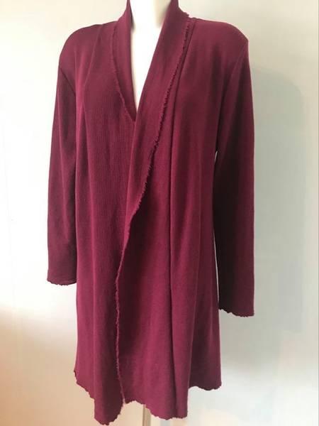 Bilde av Merinoull jakke mellomlang burgunder