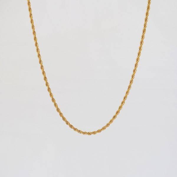 Bilde av halskjede, vridd lenke, gull