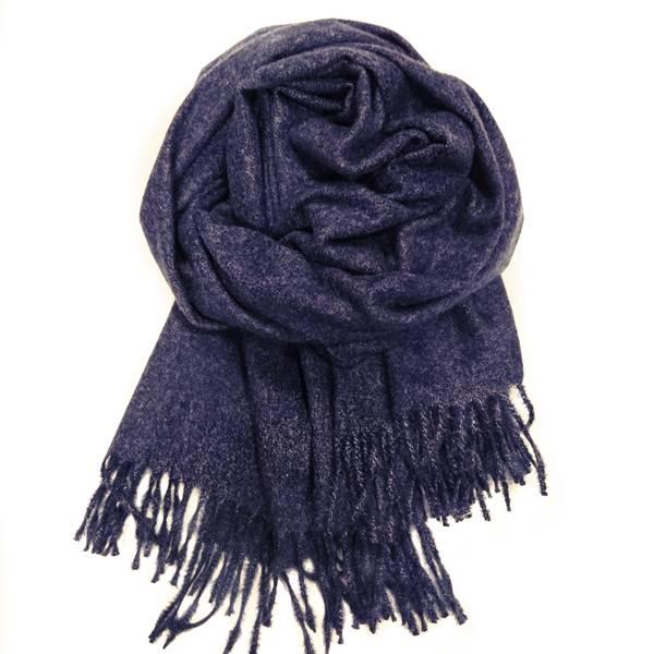 Bilde av Basic ullskjerf mørk blålilla melert