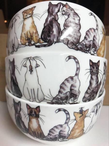 Bilde av Skåler med katter 6 stk