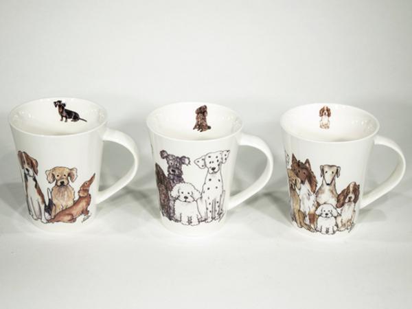 Bilde av Kaffekopper med hunder 6 stk