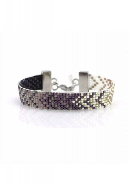 Bilde av Armbånd av perler med pil lilla