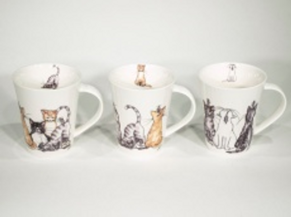 Bilde av Kaffekopper med katter 6 stk
