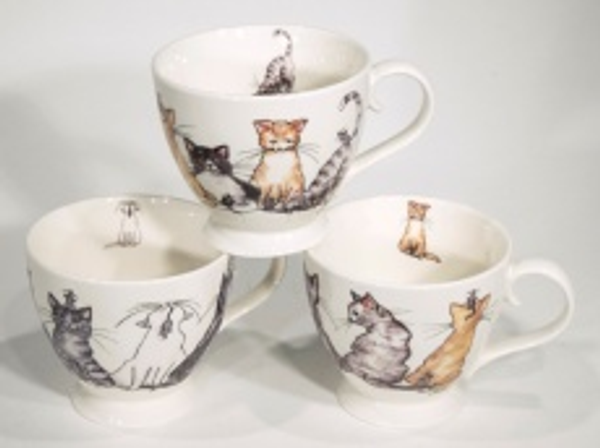 Bilde av Tekopper med katter 6 stk