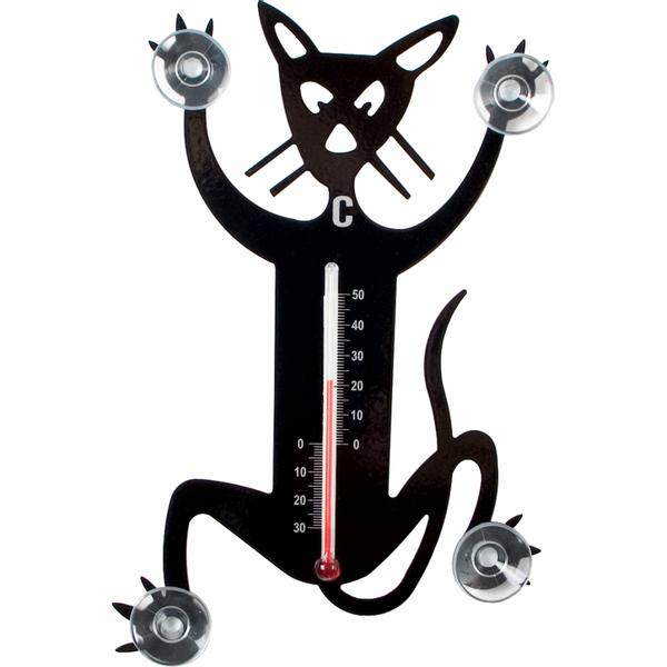 Bilde av Termometer Katt svart