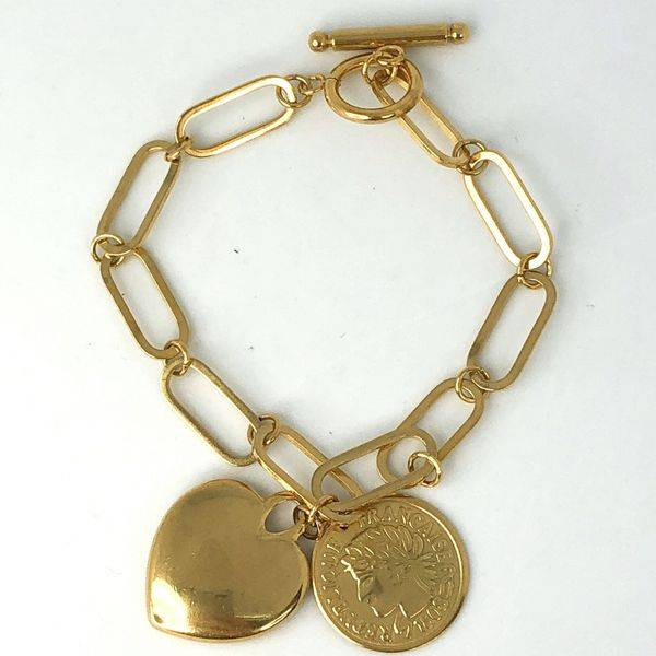 Bilde av Armbånd med gullhjerte og coin