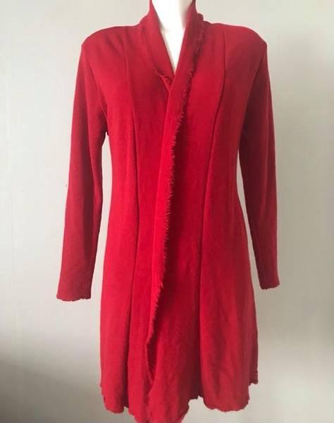 Bilde av Merinoull jakke mellomlang chilli rød