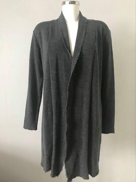 Bilde av Merinoull jakke mellomlang grå melange