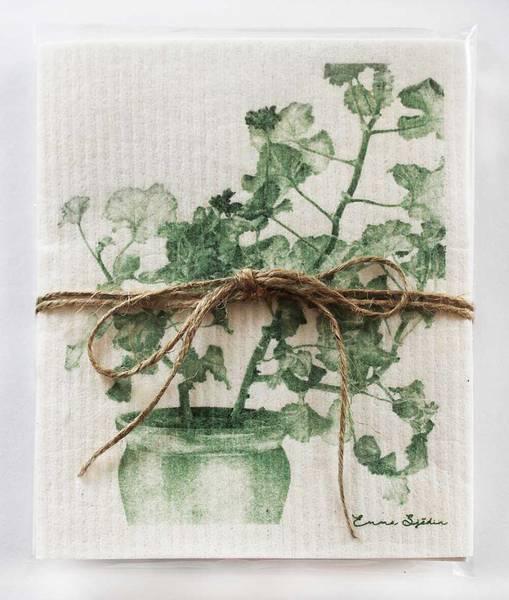 Bilde av Kjøkkenkluter grønn pelargonia