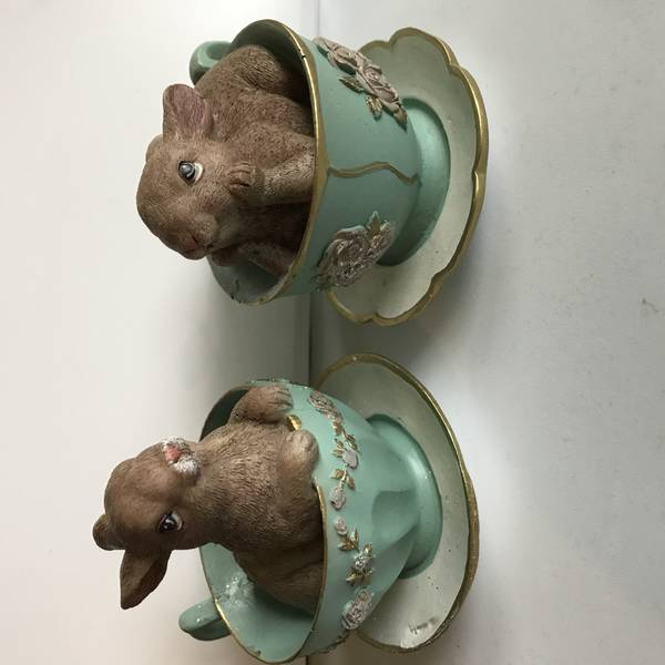 Bilde av kaniner i kopper, turkis