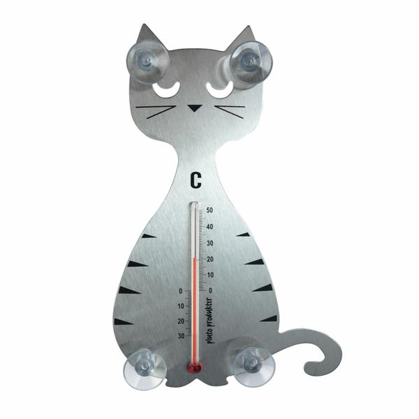 Bilde av Termometer katt stål