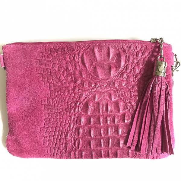 Bilde av Croco clutch rosa