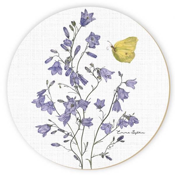 Bilde av Gryteunderlag med blåklokke og sitronsommerfugl