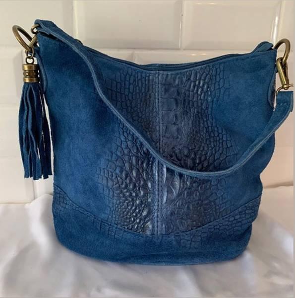 Bilde av Croco veske blå kongeblå