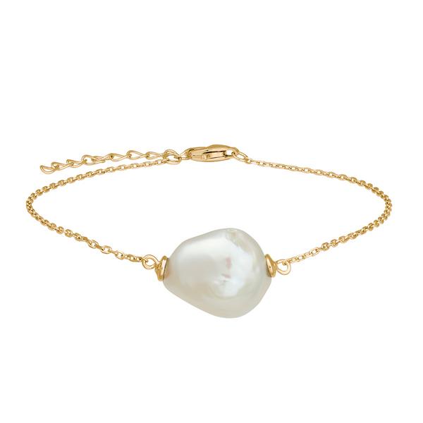 Bilde av Armbånd med barokk perle. Gull