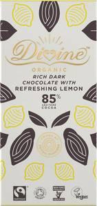 Bilde av Divine 85% mørk sjokolade med sitron