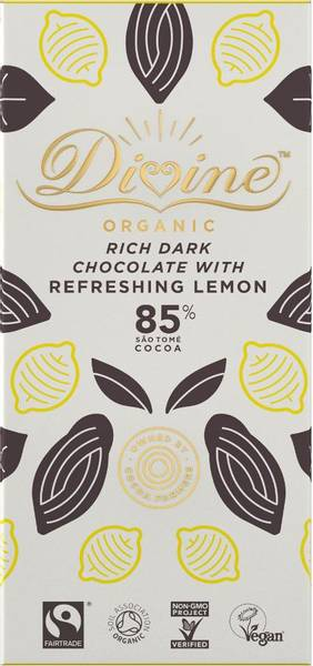 Divine 85% mørk sjokolade med sitron
