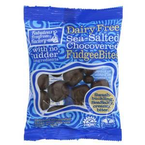 Bilde av Dairy Free Sea Salted Chocovered Fudgee Bites.