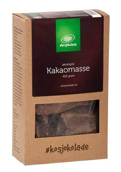 Kakaomasse (økologisk, av rå kakao) 400 g