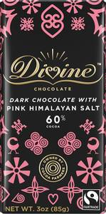 Bilde av Divine 60 % Dark  Chocolate with Pink Himalayan