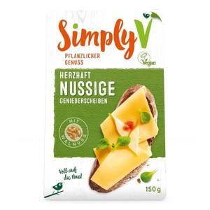 Bilde av SimplyV vegetabilsk ost med valnøtt. Best før