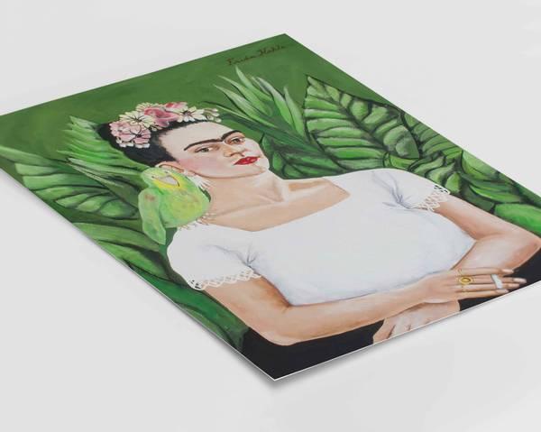 Bilde av Frida Kahlo self portrait plakat