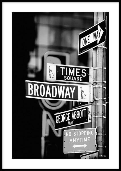 Bilde av NEW YORK DIRECTION PLAKAT