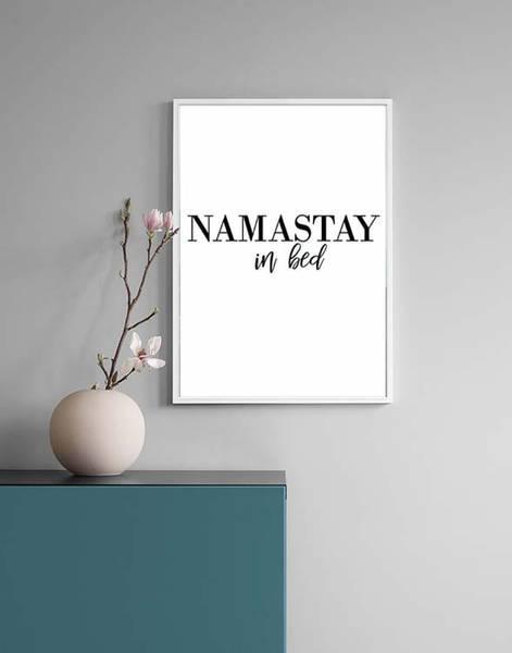 Bilde av NAMASTAY IN BED POSTER