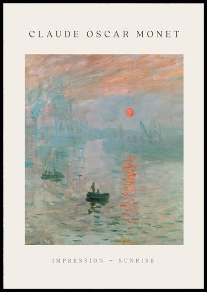 Bilde av Monet sunrise plakat