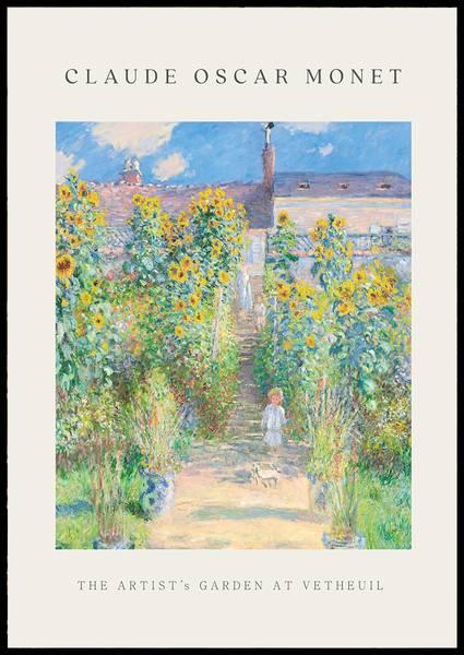 Bilde av Monet The artist's garden at Vetheuil plakat