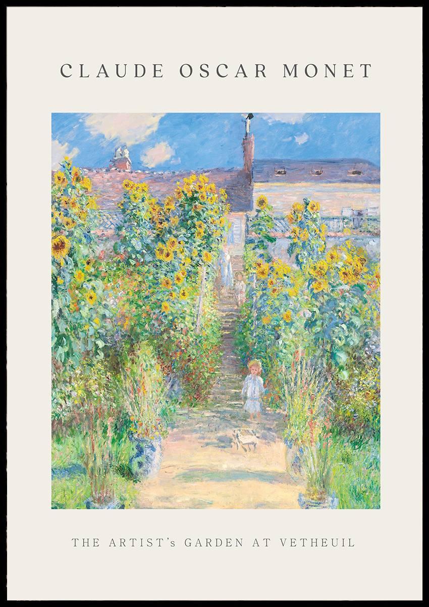 Monet The artist's garden at Vetheuil plakat