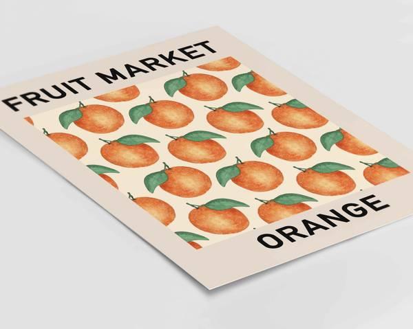 Bilde av Fruit market orange plakat
