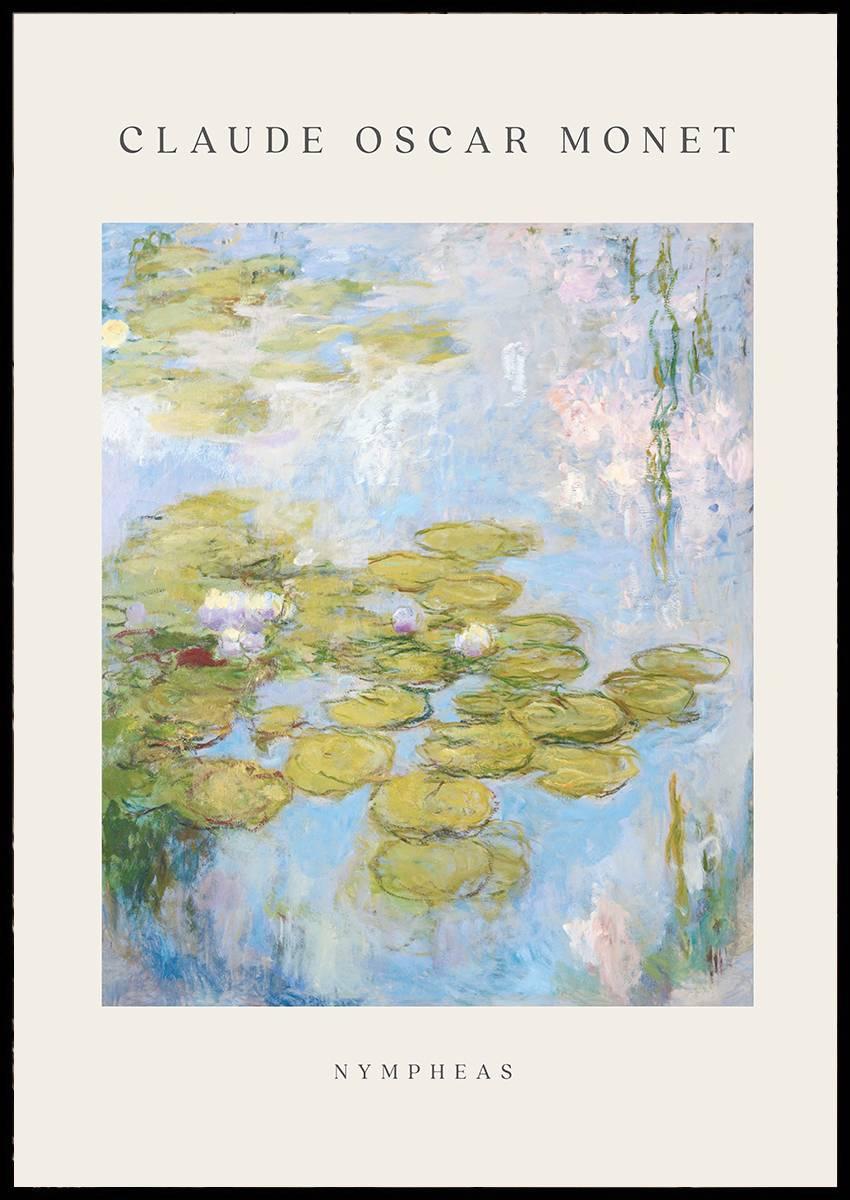Claude Monet Nympheas plakat
