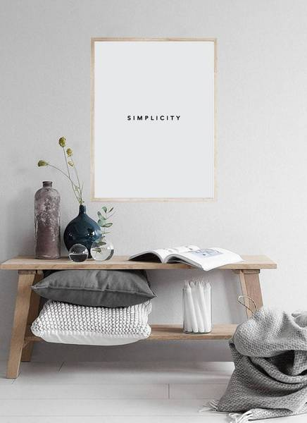 Bilde av SIMPLICITY POSTER